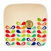 11inch Square Plate (rainbow)