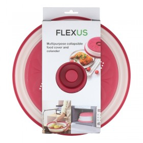 Flexus Microwavable Collapsible Food Cover and Colander