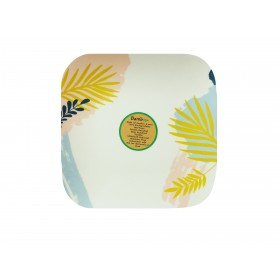 8 inch Square Plate (Tropical)