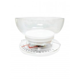 Mechanical Kitchen Scale with Removable Bowl (White)