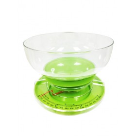 Mechanical Kitchen Scale with Removable Bowl (Green)